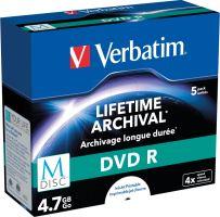 Média VERBATIM M-DISC DVD R 4X 4,7GB Inkjet Printable, 1ks