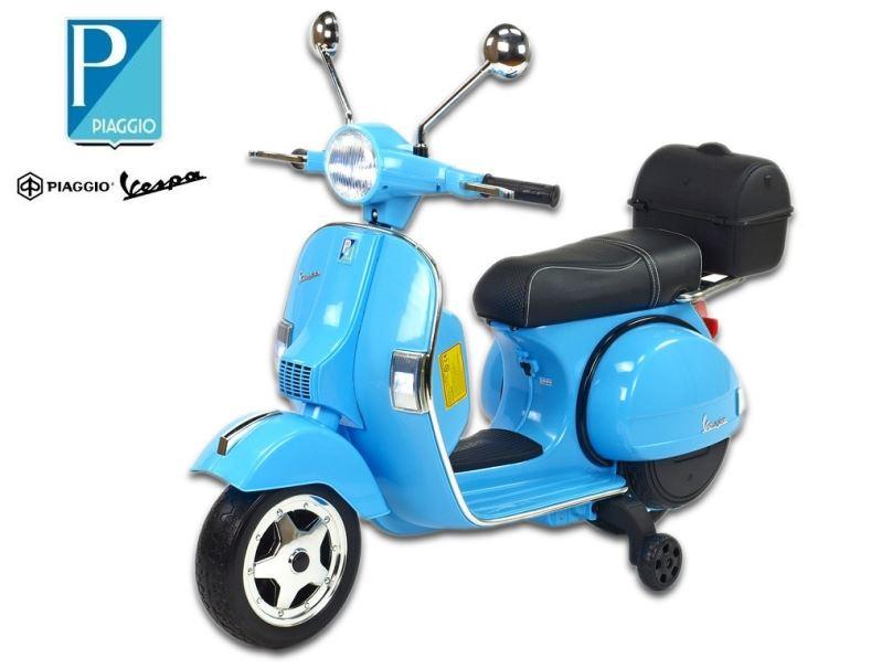 Elektrický skútr pro děti Piaggio Vespa PX150, modrá