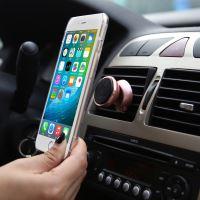 BASEUS Magnet Series magnetický držák na ventilační mřížku auta - růžově zlatý, 360° otočný