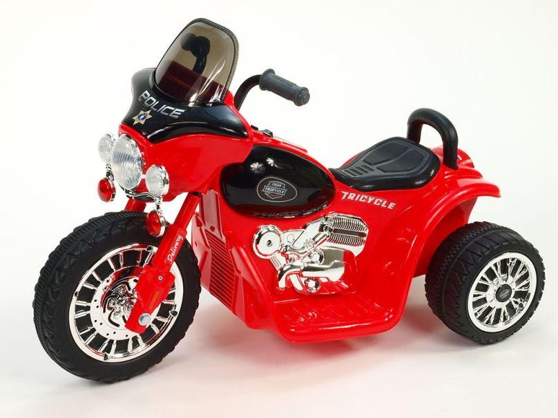Elektrická motorka pro děti Chopper Harley, červený