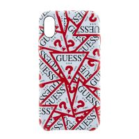 GUHCPXPMPT Guess Triangle Hard Case White and Red pro iPhone X / XS