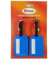 Jmenovky na zavazadlo Benzi 2ks BZ4066 - modrá