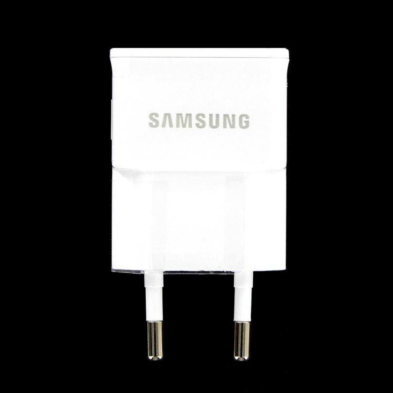 Originální cestovní nabíječka Samsung ETA0U83EWE s USB výstupem, 1A, bílá (Bulk)