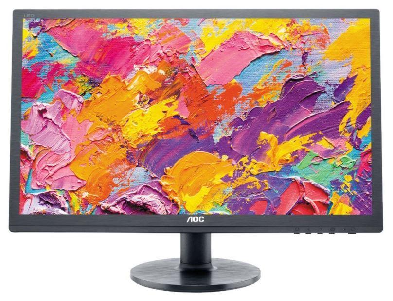 """LCD monitor 24"""" AOC e2460Sh, používaný monitor, 100% stav, záruka 3 měsíce"""