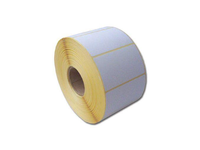 Etikety 60mm x 39mm, termo, samolepící, bílé, 1000ks