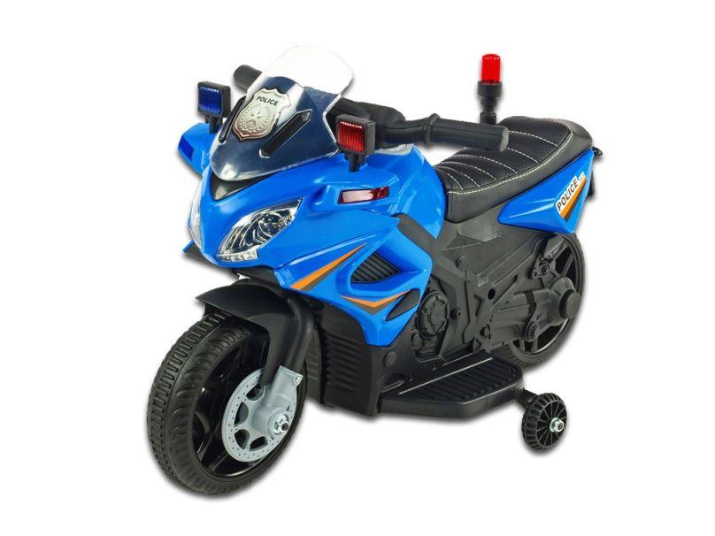 Elektrická motorka pro děti Policie 911, modrá