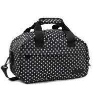 Cestovní taška MEMBER'S SB-0043 - černá/bílá