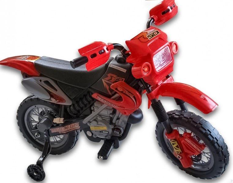 Elektrická motorka pro děti Crosska 6V, červená