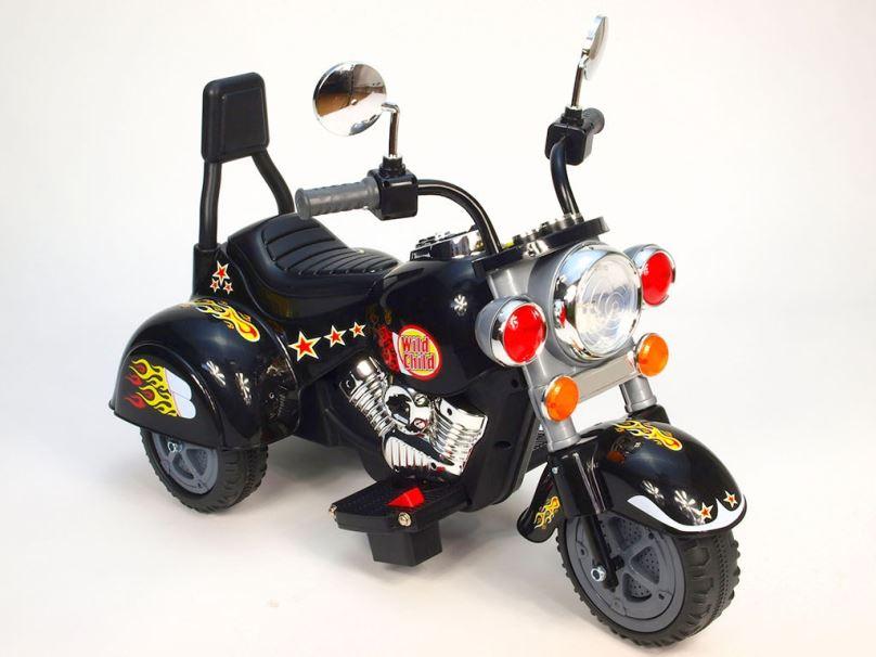 Elektrická motorka pro děti Chopper Harley černý Wild