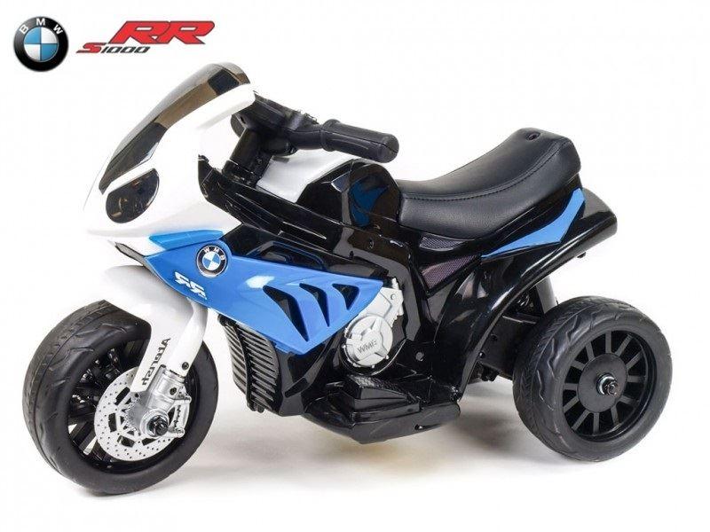 Elektrická motorka pro děti Trike BWM S1000RR, modrá