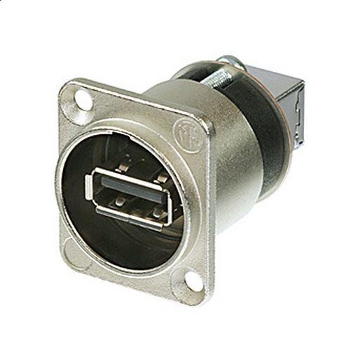 Neutrik panelový konektor USB 2.0, NAUSB-W