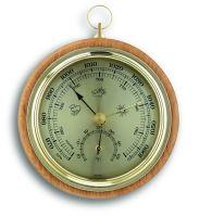 Barometr s teploměrem 108 mm na zavěšení - TFA 45.1000.05 - buk