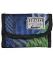 Peněženka textilní OBSESSED 6706 Dynamic - zelená/modrá