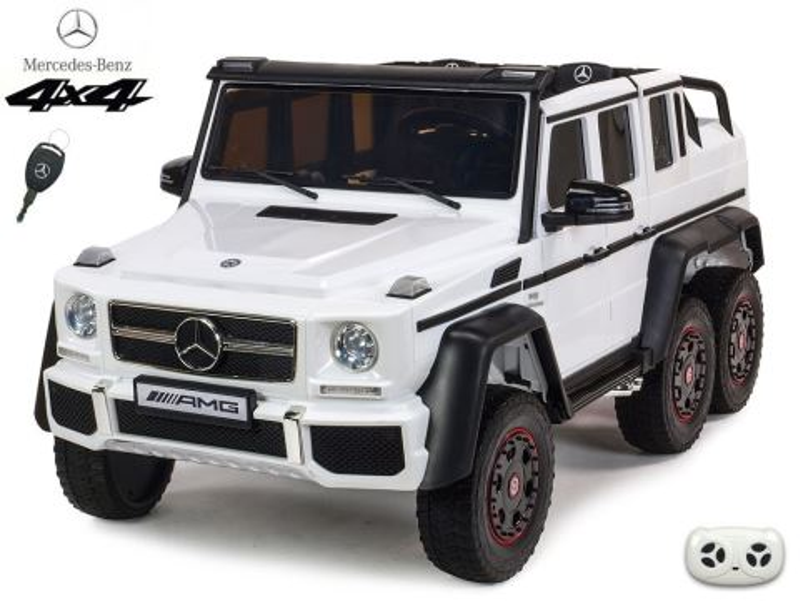 Elektrické auto pro děti Mercedes G63 AMG 4x4, bílý