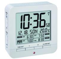 Digitální budík s hodinami řízenými DCF signálem TFA 60.2536.02 - bílý