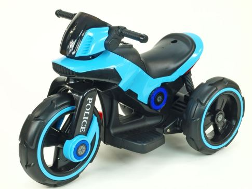 Elektrická motorka pro děti fantastická POLICE, modrá