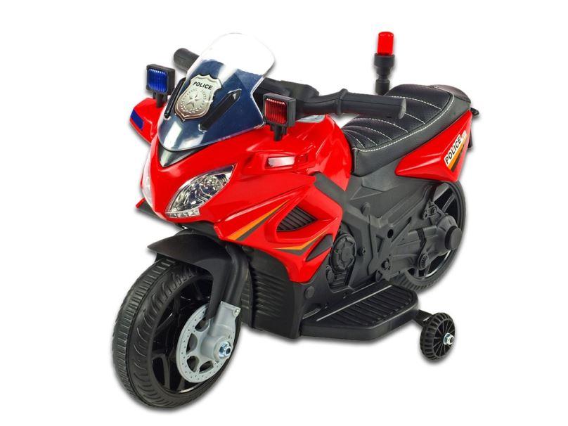 Elektrická motorka pro děti Policie 911, červená