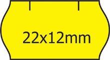 Etikety Contact pro etiketovací kleště 22x12mm, s obloučkem, žluté