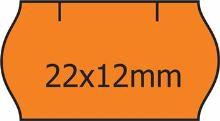Etikety Contact pro etiketovací kleště 22x12mm, s obloučkem, oranžové