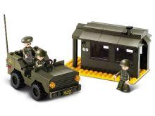 SLUBAN stavebnice Vojenská stráž, 171 dílků (kompatibilní s LEGO)