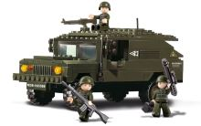 SLUBAN stavebnice Terénní Hummer, 191 dílků (kompatibilní s LEGO)
