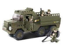 SLUBAN stavebnice Vojenský náklaďák, 229 dílků (kompatibilní s LEGO)