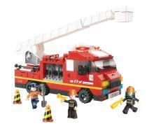 SLUBAN stavebnice Hasičský Vůz S Plošinou, 270 dílků (kompatibilní s LEGO)