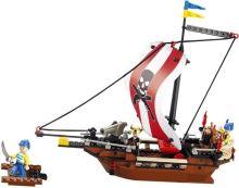 SLUBAN stavebnice Pirátská loď, 226 dílků (kompatibilní s LEGO)