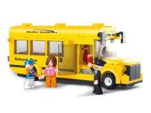 SLUBAN stavebnice Školní autobus, 218 dílků (kompatibilní s LEGO)