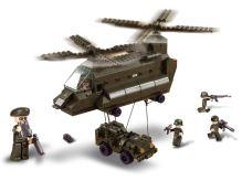 SLUBAN stavebnice Přepravní vrtulník, 370 dílků (kompatibilní s LEGO)