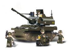 SLUBAN stavebnice Tank, 258 dílků (kompatibilní s LEGO)