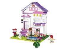 SLUBAN stavebnice Prázdninový dům, 291 dílků (kompatibilní s LEGO)