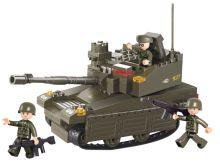 SLUBAN stavebnice Tank Leopard-2A6M, 217 dílků (kompatibilní s LEGO)