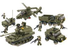 SLUBAN stavebnice Pozemní Jednotky, 996 dílků (kompatibilní s LEGO)