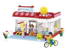 SLUBAN stavebnice Supermarket, 289 dílků (kompatibilní s LEGO)