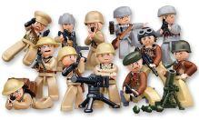 SLUBAN stavebnice WWII Minifigurky 1 (kompatibilní s LEGO)