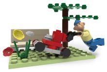 SLUBAN stavebnice Pat & Mat Serie With Lawn Mower, 49 dílků (kompatibilní s LEGO)
