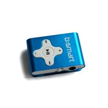 Mini MP3 přehrávač Bsmart se slotem pro paměťové karty, modrý