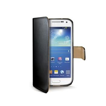 Pouzdro typu kniha CELLY Wally pro Samsung Galaxy S4 Mini, PU kůže, černé