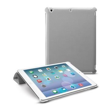 Pouzdro CellularLine SmartCase pro Apple iPad Air, PU kůže, šedé