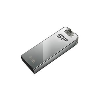 USB flash disk Silicon Power Touch T03, 8GB, USB 2.0, stříbrný