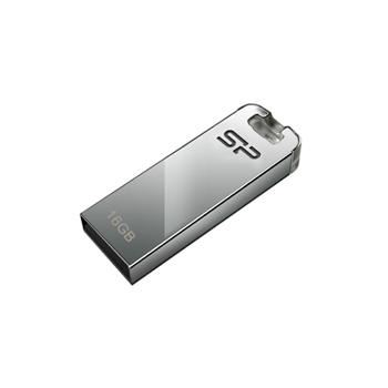USB flash disk Silicon Power Touch T03, 16GB, USB 2.0, stříbrný
