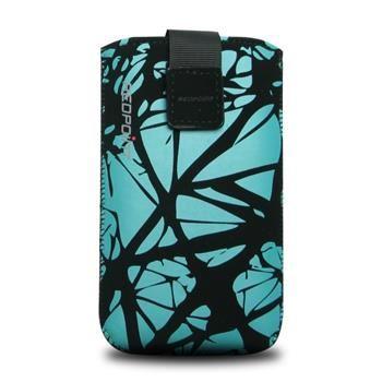 Univerzální pouzdro FIXED Velvet, mikroplyš, motiv Blue Cracks, velikost 4XL