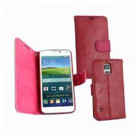 Kožené pouzdro typu kniha OZBO TWIN pro Samsung Galaxy S5 / S5 Neo, červeno-růžové