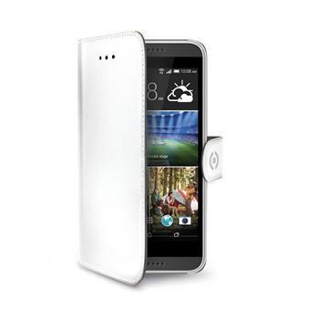Pouzdro typu kniha CELLY Wally pro HTC Desire 620/Desire 620G, PU kůže, bílé