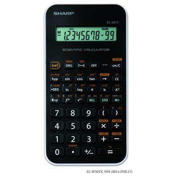 Základní vědecká kalkulačka SHARP EL-501XWH, černo-bílá
