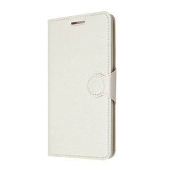 Pouzdro typu kniha FIXED s gelovou vaničkou pro Lenovo A6000, bílé