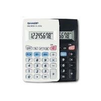 Jednoduchý kapesní kalkulátor SHARP s 8místným LCD displejem a 3 paměťovými klávesami