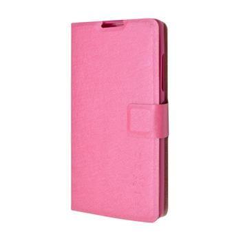 Pouzdro typu kniha FIXED s gelovou vaničkou pro Lenovo A2010, růžové