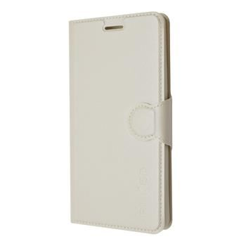 Pouzdro typu kniha FIXED s gelovou vaničkou pro Lenovo A7000, bílé